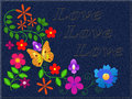 Free Flowers On A Fabric Stock Photo - 14515770