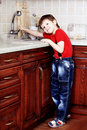 Free Boy On A Kitchen Royalty Free Stock Photography - 14519507