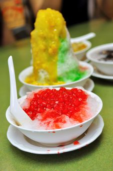 Free Ice Kacang And Red Ruby Desserts Stock Image - 14510601