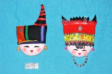 Free Finery Embroidery Of Chinese Minority Traditional Royalty Free Stock Photography - 14510617