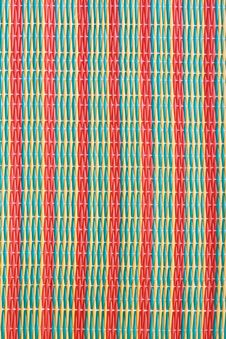 Stripe Of Mat Woven From Plastic Royalty Free Stock Image