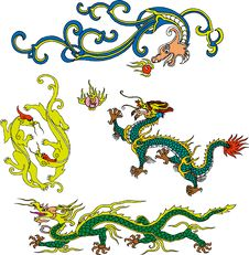 Free Dragon Set Eighteen Royalty Free Stock Image - 14511426
