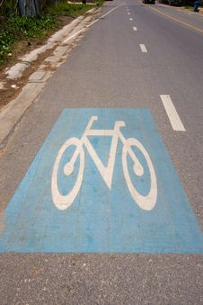 Free Bicycle Lane Royalty Free Stock Image - 14511476