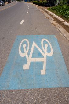 Free Bicycle Lane Stock Image - 14511501