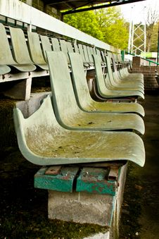 Free Seats In Old Football Stadium Stock Photography - 14511562