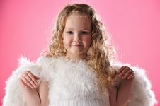 Free Beautiful Little Angel Girl Royalty Free Stock Images - 14511759