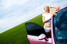 Free Girl With Her Car Stock Photos - 14513923