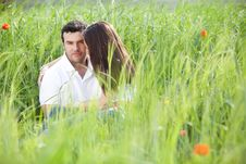 Free Couple On Fueld Stock Images - 14514064