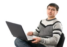 Free Young Man With Laptop Royalty Free Stock Images - 14514279