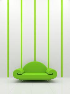 Green Sofa Royalty Free Stock Image