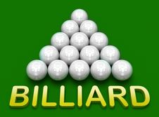 Free Billiard . Russian Pyramid Royalty Free Stock Photo - 14514625