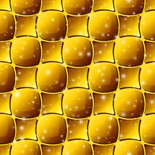 Seamless Gold Tile Pattern Royalty Free Stock Image