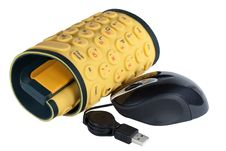 Free The Keyboard The Rubber Flexible Yellow Stock Photography - 14514862