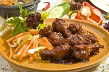 Free Grilled Chicken Legs Mexican Style Stock Photography - 14515002