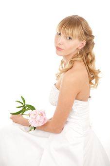 Free Portrait Of Bride With Peony Royalty Free Stock Photo - 14515005