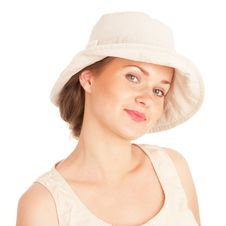 Smiling Girl In Hat Royalty Free Stock Image