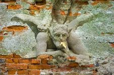 Devil Under Foot Of St. Michael Royalty Free Stock Photos