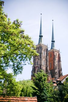 Free Cathedral Church In Wroclaw, Poland Stock Photography - 14515922