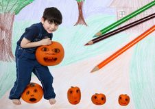 Free Pumpkin Patch Royalty Free Stock Images - 14515989