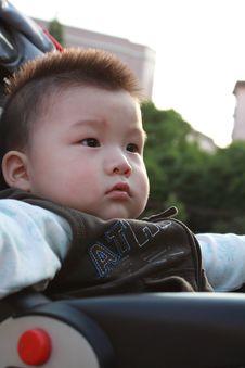 Baby Enjoy Sunshine Royalty Free Stock Photography