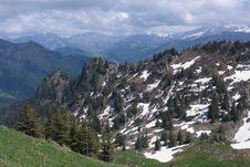 Free Summer Alpine Mountain Panorama Stock Photo - 14516090
