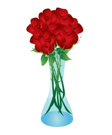 Free Rose Boquet In Vase Stock Images - 14516554