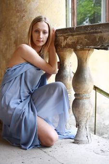 Free Sexual Blonde In Blue Tunic Stock Photo - 14517970