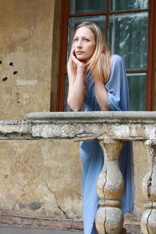 Free Portrait Of The Blonde In Blue Tunic Stock Photos - 14518063