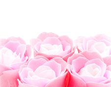 Buds Of Artificial Pink Roses Royalty Free Stock Images
