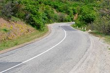 Free Road In The Mountains Royalty Free Stock Photography - 14518537