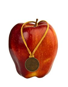 Free Apple With Medal Royalty Free Stock Photo - 14518665