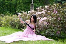 Free Beutiful Japanese Woman Royalty Free Stock Photography - 14518717