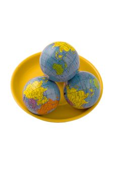 Three Globes Stock Images