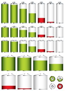 Free Battery Collection Sizes Royalty Free Stock Photography - 14518877