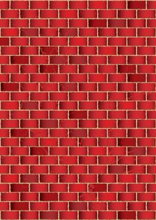 Free Grunge Red Brick Wall Stock Photo - 14519120
