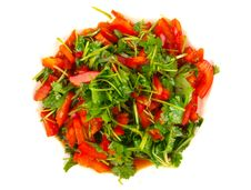 Free Coriander And Sweet Pepper Salad Stock Image - 14519421