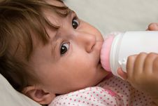 Free Small Child With Bottle Royalty Free Stock Image - 14519886