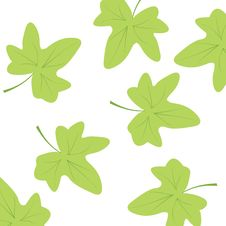 Free Seamless Wallpaper With Leaves Royalty Free Stock Photo - 14519955