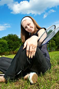 Free Tennis Player With Rackets Stock Image - 14519971