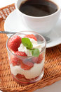 Free Strawberry Dessert And Coffee Royalty Free Stock Photos - 14524308