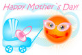 Free Postcard Happy Mother`s Day Vector Royalty Free Stock Photography - 14526187