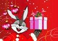 Free Christmas Rabbit Royalty Free Stock Image - 14529966