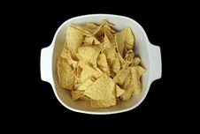 Free Tortilla Chips In Bowl Royalty Free Stock Photos - 14520148