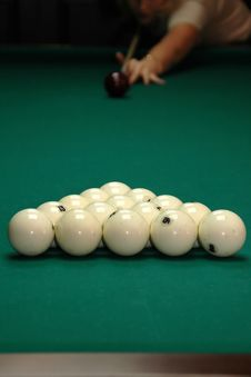 Billiards. Royalty Free Stock Image