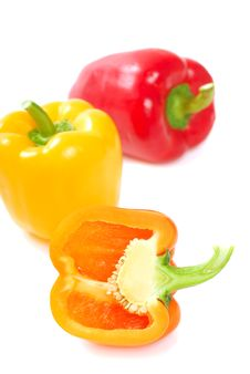 Free Orange, Yellow And Red Bell Peppers Royalty Free Stock Photography - 14520487