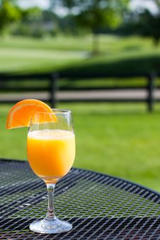 Free A Refreshing Glass Of Orange Juice Royalty Free Stock Photography - 14520567
