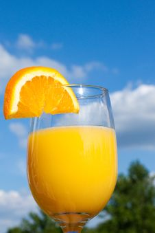 Free A Refreshing Glass Of Orange Juice Stock Images - 14520584