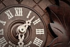 Free Close-up Of Old Wooden Clock Royalty Free Stock Image - 14520726