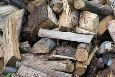 Free Pile Of Uncut Firewood Royalty Free Stock Photos - 14521648