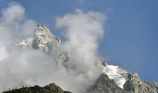 Alps Mont Blanc Royalty Free Stock Images